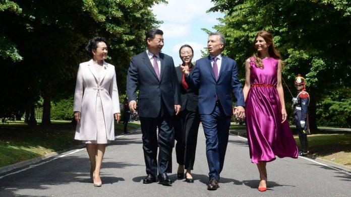 Macri y Xi Jinping en Olivos