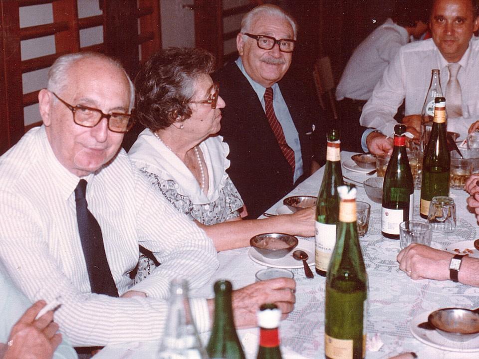 Frondizi y Rogelio Frigerio en la década del 80