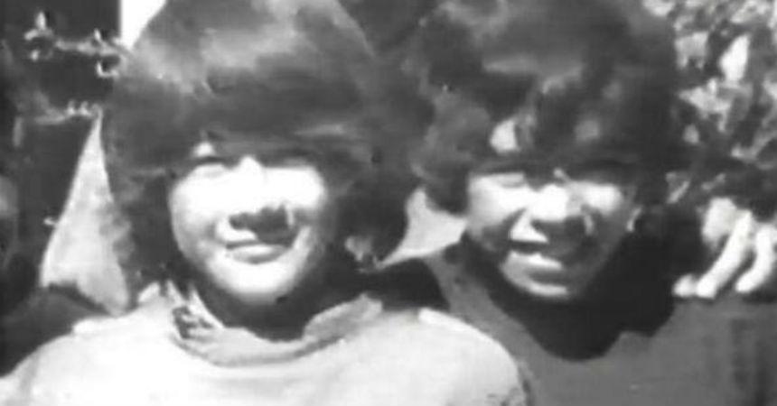 Pelusa y Goyo en su infancia en Fiorito.